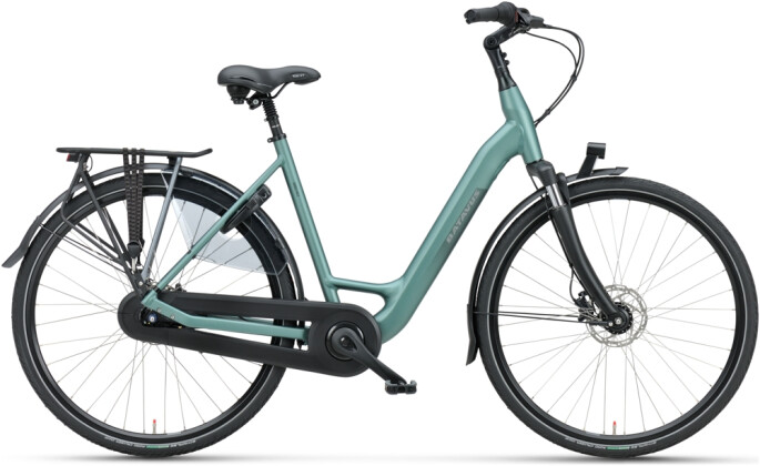 Citybike Batavus Finez Mono petrol silver mat 2021