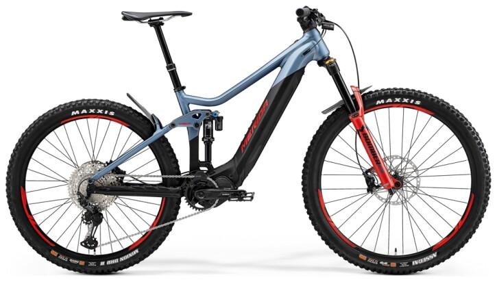 e-Mountainbike Merida eONE-SIXTY 700 Stahl-Blau/Schwarz 2021