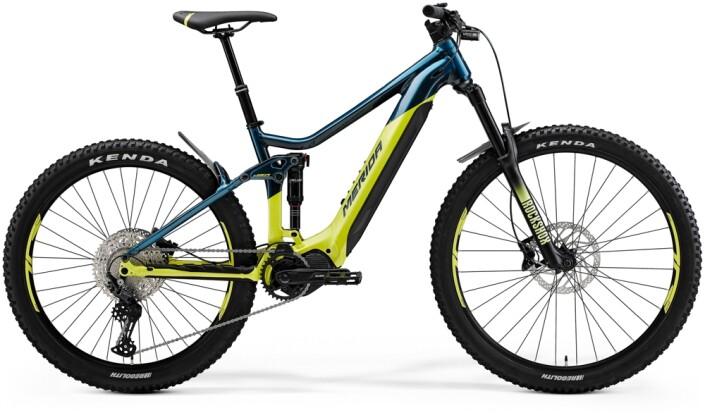 e-Mountainbike Merida eONE-SIXTY 500 Türkis-Blau/Lime 2021