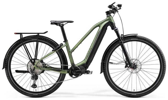 e-Trekkingbike Merida eBIG.TOUR 700 EQ Matt-Grün/Schwarz 2021