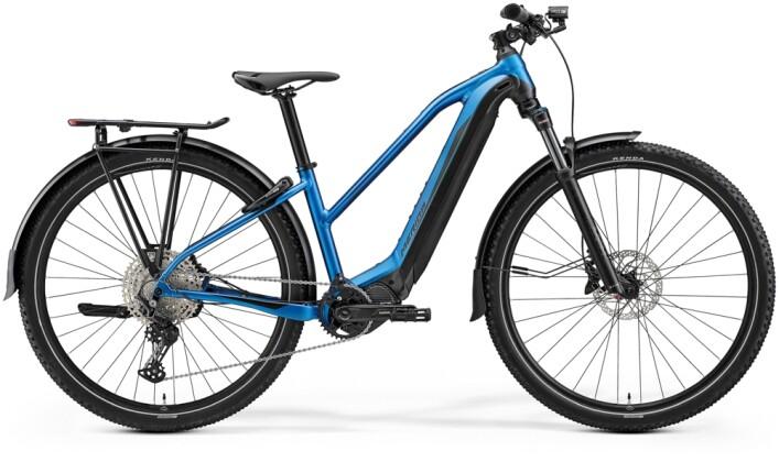 e-Trekkingbike Merida eBIG.TOUR 675 EQ Blau/Schwarz 2021