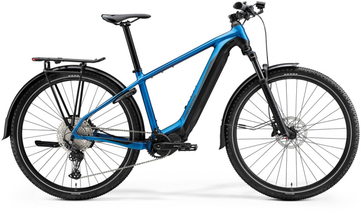 e-Mountainbike Merida eBIG.NINE 600 EQ Hell-Blau/Schwarz 2021