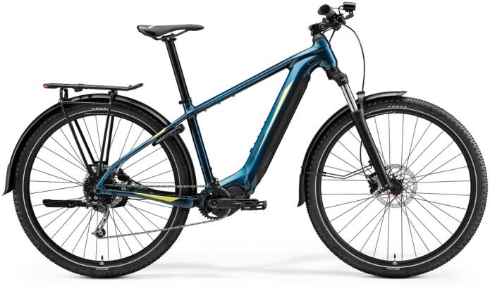 e-Mountainbike Merida eBIG.NINE 400 EQ Türkis-Blau/Lime 2021