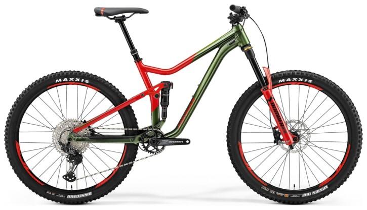 Mountainbike Merida ONE-FORTY 700 Grün/Rot 2021