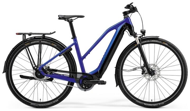 e-Trekkingbike Merida eSPRESSO 800 EQ Lady Blau/Schwarz 2021