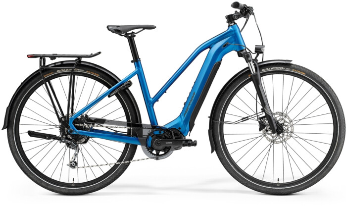 e-Trekkingbike Merida eSPRESSO 400 EQ Lady Blau/Schwarz 2021