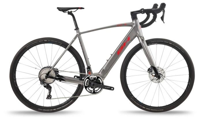 e-Rennrad BH Bikes CORE GRAVELX 2.4 Grey-Black-Red 2021