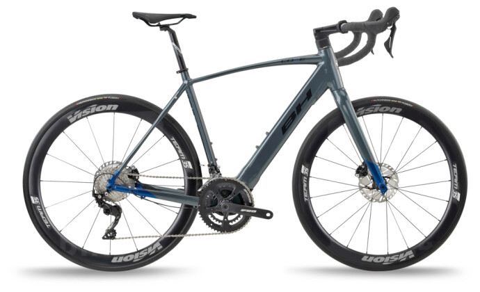 e-Rennrad BH Bikes CORE RACE 1.4 Grey-Blue-Black 2021