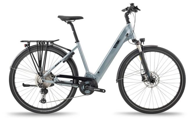e-Trekkingbike BH Bikes ATOMS CITY WAVE PRO-S Silver-Black 2021