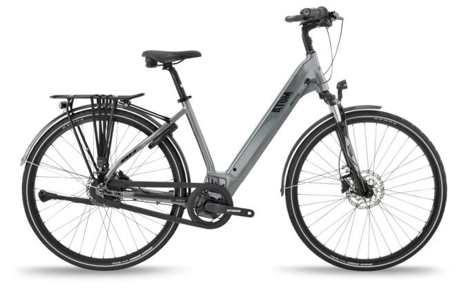 e-Citybike BH Bikes ATOM DIAMOND WAVE PRO Anthracite-Silver 2021