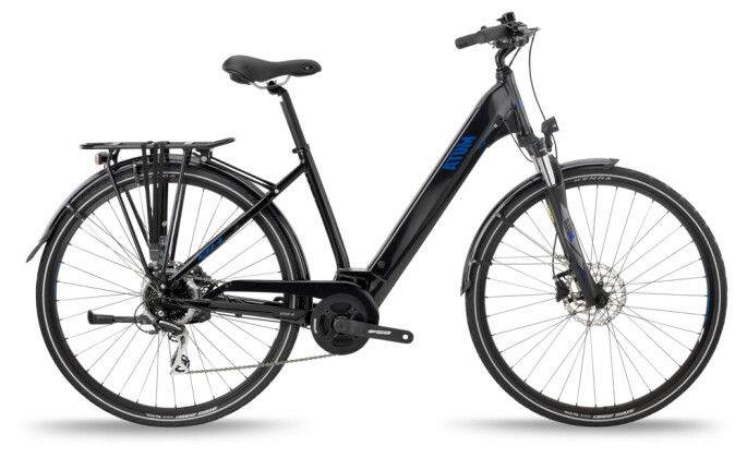 e-Trekkingbike BH Bikes ATOM CITY WAVE Black-Blue 2021