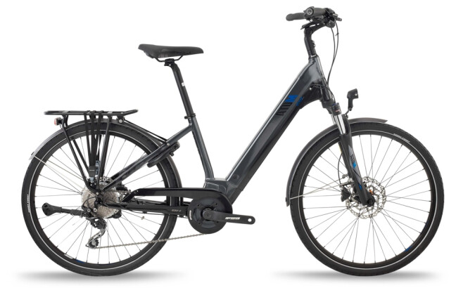 e-Trekkingbike BH Bikes ATOM STREET PRO Grey-Black-Blue 2021