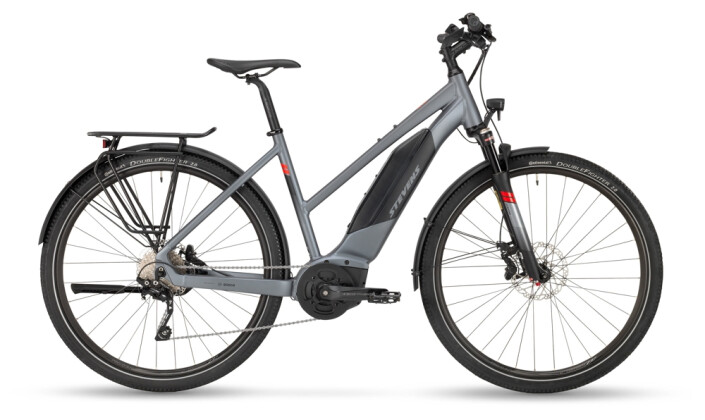 e-Trekkingbike Stevens E-6X Tour Lady Foggy Grey 2021