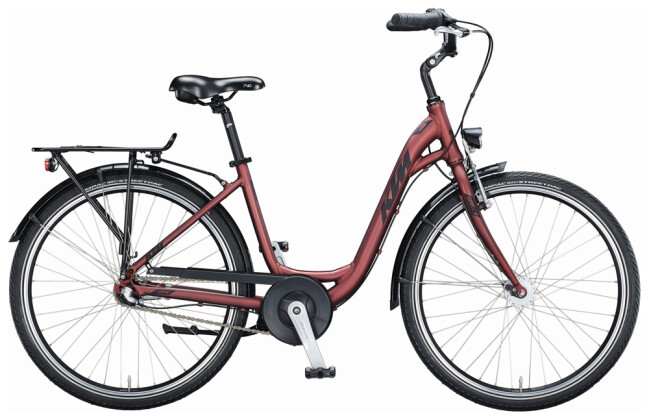 Citybike KTM CITY FUN 26 D-W bordeaux 2021