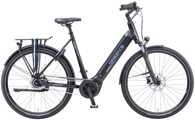 e-Citybike Green's Bromley FL black matt 2021