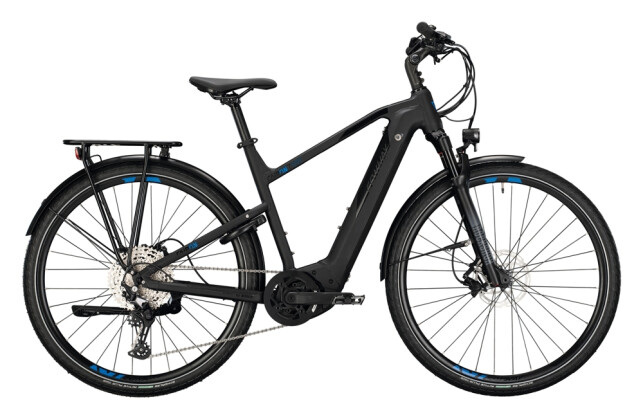 e-Trekkingbike Conway Cairon T 500 Wave black matt / blue 2021