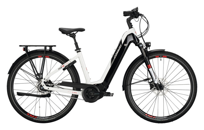 e-Citybike Conway Cairon T 380 625 LL white / red black 2021