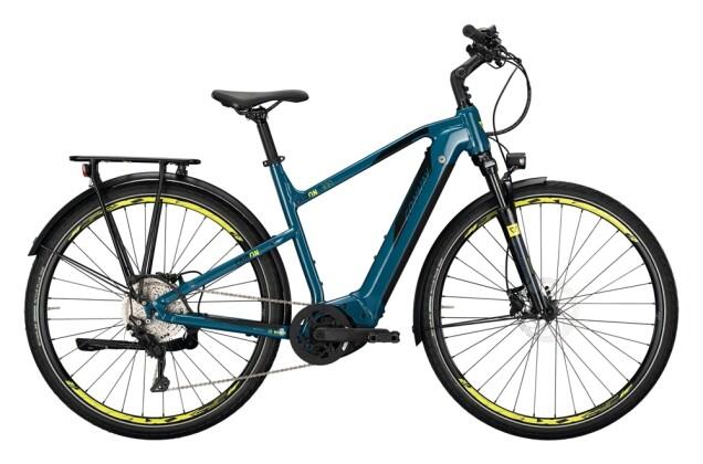 e-Trekkingbike Conway Cairon T 300 625 Trapez darkpetrol / acid 2021