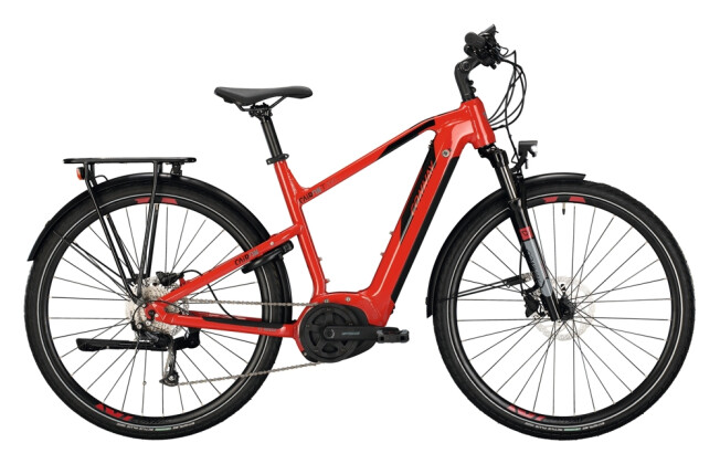 e-Trekkingbike Conway Cairon T 200 Trapez red / black 2021