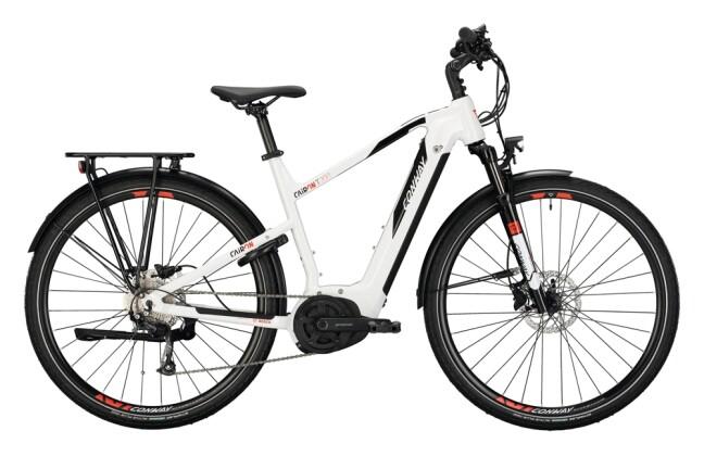 e-Trekkingbike Conway Cairon T 200 Trapez white / black 2021