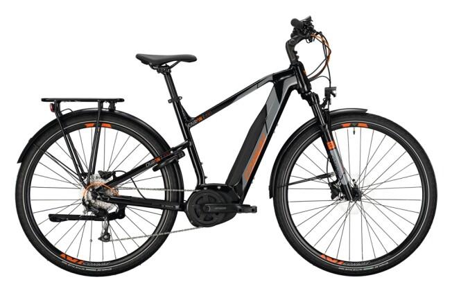 e-Trekkingbike Conway Cairon T 100 500 Trapez black / grey orange 2021
