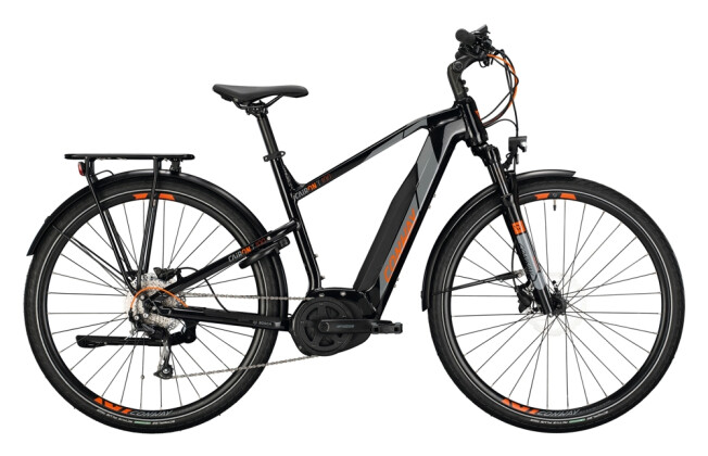 e-Trekkingbike Conway Cairon T 100 400 Trapez black / grey orange 2021