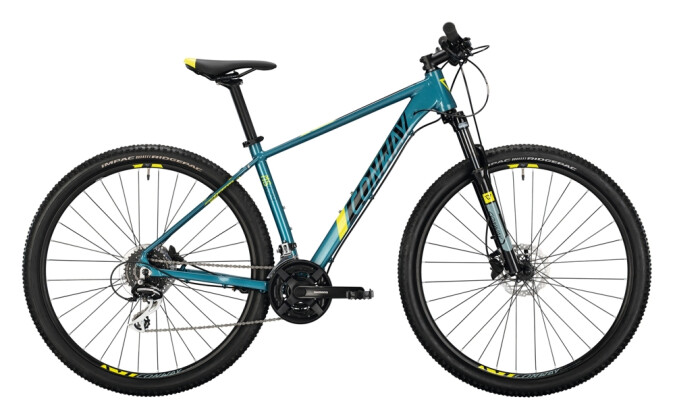 Mountainbike Conway MS 429 darkpetrol / acid 2021