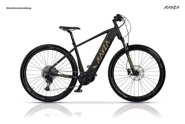 e-Mountainbike KAYZA Hydric 8 schwarz, beige 2021