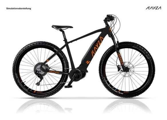 e-Mountainbike KAYZA Hydric 4 schwarz, orange 2021