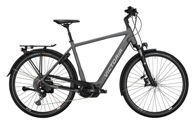 e-Trekkingbike Victoria eTouring 12.9 grau, rot 2021
