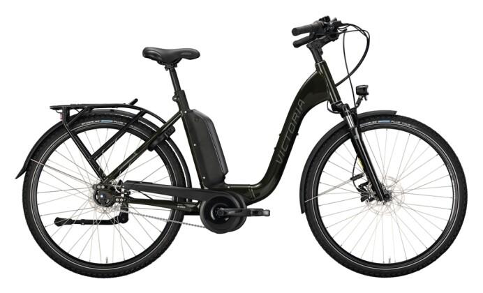 e-Citybike Victoria eManufaktur 9.8 grün, beige 2021