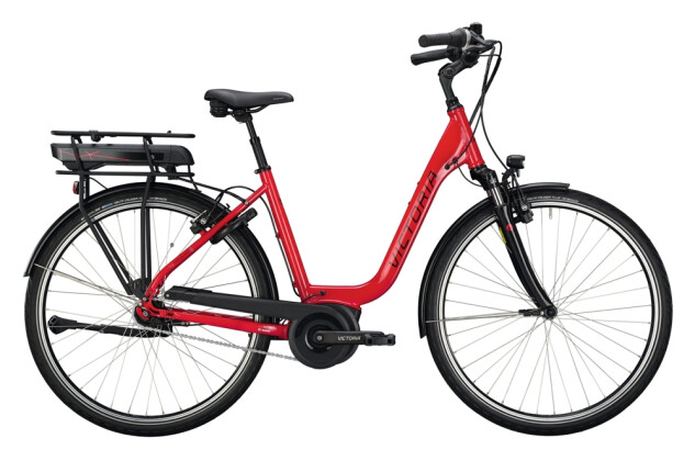 e-Citybike Victoria eTrekking 5.10 rot, grau 2021