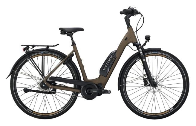 e-Citybike Victoria eTouring 7.6 schwarz, braun 2021
