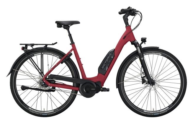 e-Citybike Victoria eTouring 7.5 rot, silber 2021