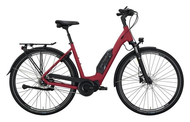 e-Citybike Victoria eTouring 7.4 rot, silber 2021