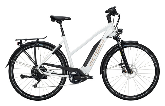 e-Trekkingbike Victoria eTrekking 10.9 weiß, silber 2021
