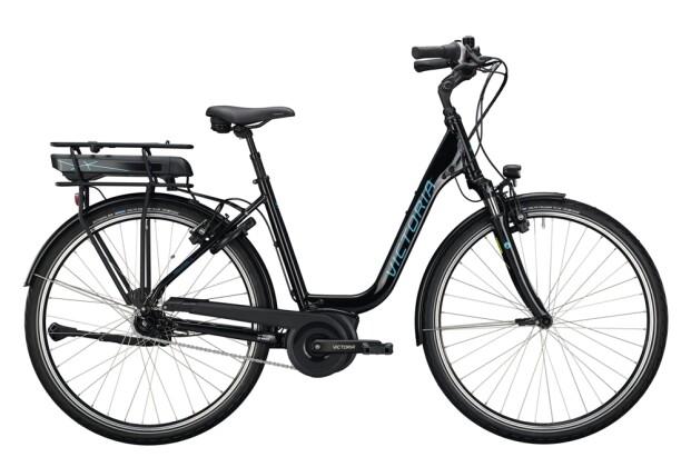 e-Citybike Victoria eTrekking 5.8 schwarz, blau 2021