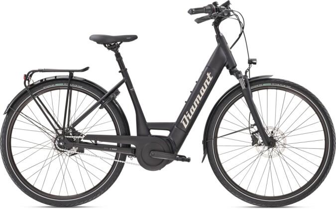 e-Citybike Diamant Beryll Deluxe+ TIE Tiefschwarz 2021