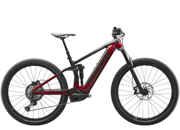 e-Mountainbike Trek Rail 7 Schwarz/Rot 2021