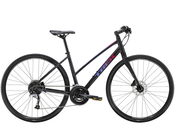 Crossbike Trek FX 3 Disc Women's Stagger Schwarz 2021