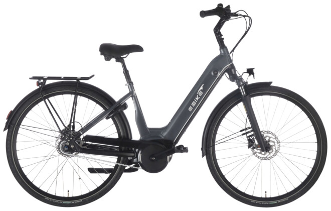 e-Citybike EBIKE.Das Original CITY Pro Wave RT Gates grau 2021