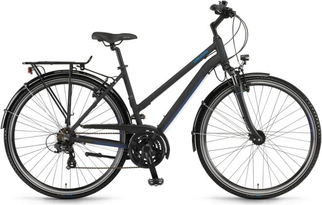 Trekkingbike Winora Domingo 21 Schwarz/Blau matt Mid 2021