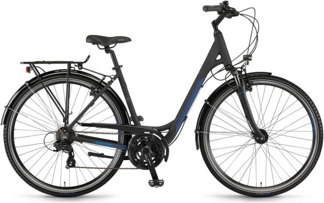 Trekkingbike Winora Domingo 21 Schwarz/Blau matt Low 2021