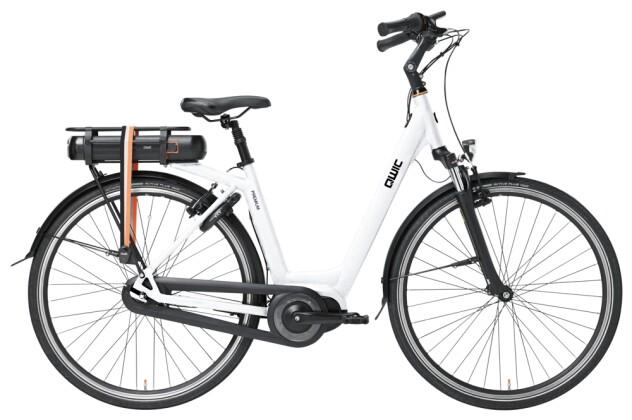 e-Citybike QWIC PREMIUM MN7 VV BAFANG FEMALE CHALK WHITE 2021