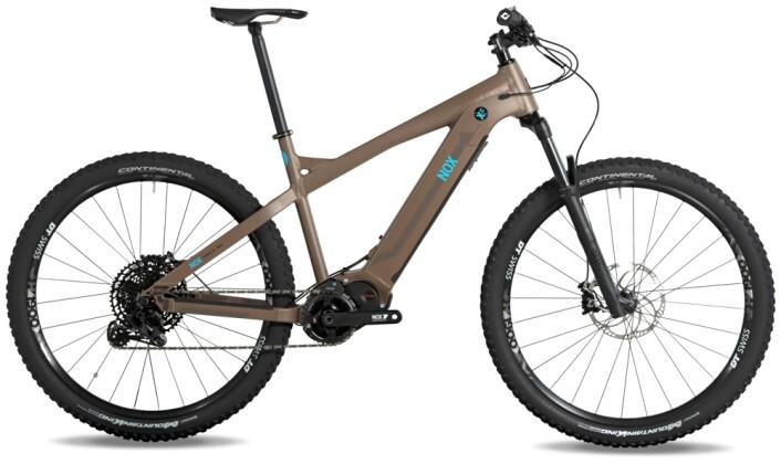 e-Mountainbike Nox Cycles Hybrid XC Trail coffee 2021