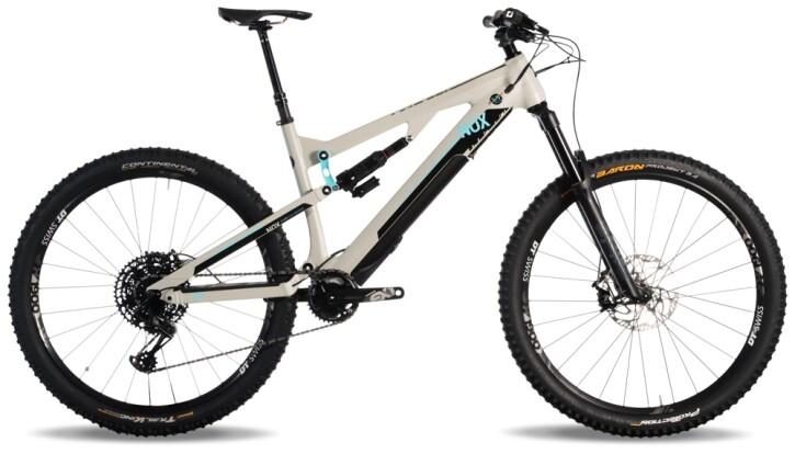 e-Mountainbike Nox Cycles Helium All Mountain 5.9 Open Source granit 2021