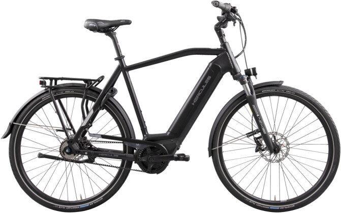 e-Citybike Hercules E-Imperial I-R5 Diamant schwarz 2021