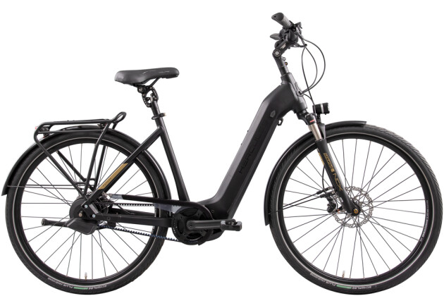 e-Citybike Hercules Futura Pro I-F360+ Zentralrohr schwarz 2021