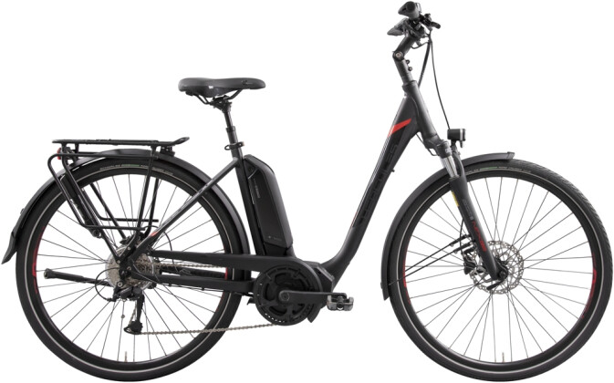 e-Trekkingbike Hercules Futura Sport 8.4 Zentralrohr schwarz 2021