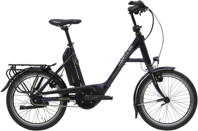 "e-Citybike Hercules Futura Compact F8 500 20"" Zentralrohr nachtblau 2021"